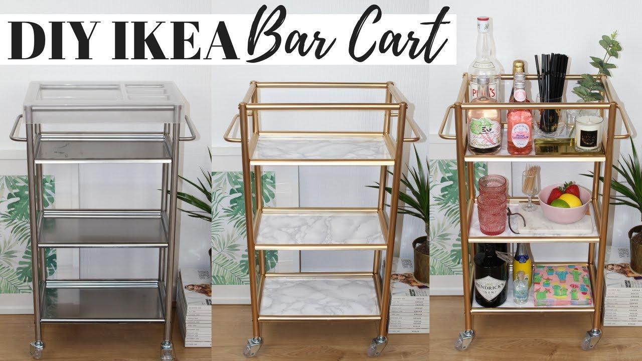Diy Bar Cart Ikea Hacks, Super Easy And Affordable! » Hildur ... avec Bar De Jardin Ikea