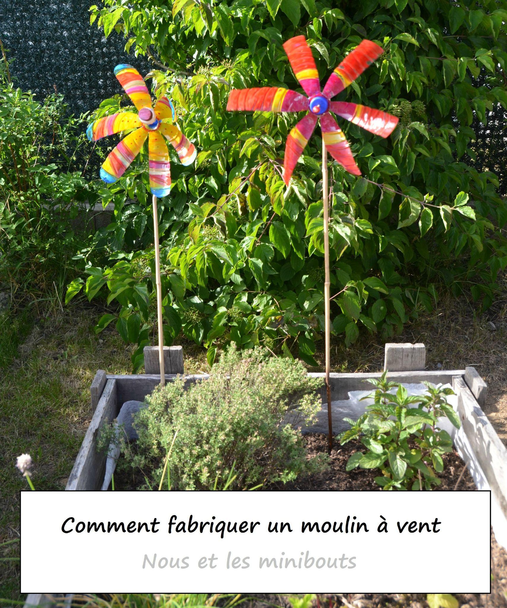 Diy : Comment Fabriquer Un Moulin À Vent Avec Des Matériaux ... intérieur Fabriquer Moulin A Vent De Jardin