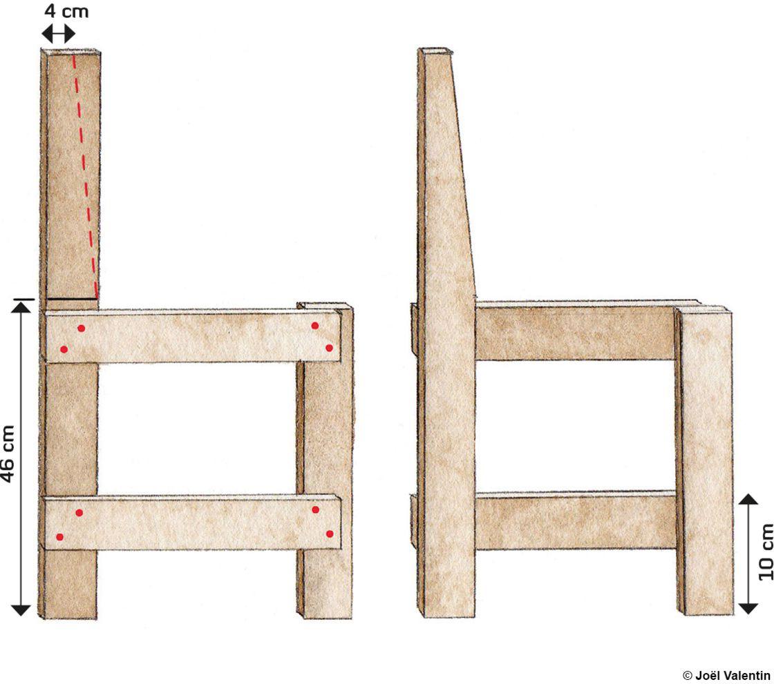 Diy : Comment Fabriquer Une Chaise De Jardin En Palettes ... à Fauteuil De Jardin En Bois De Palette