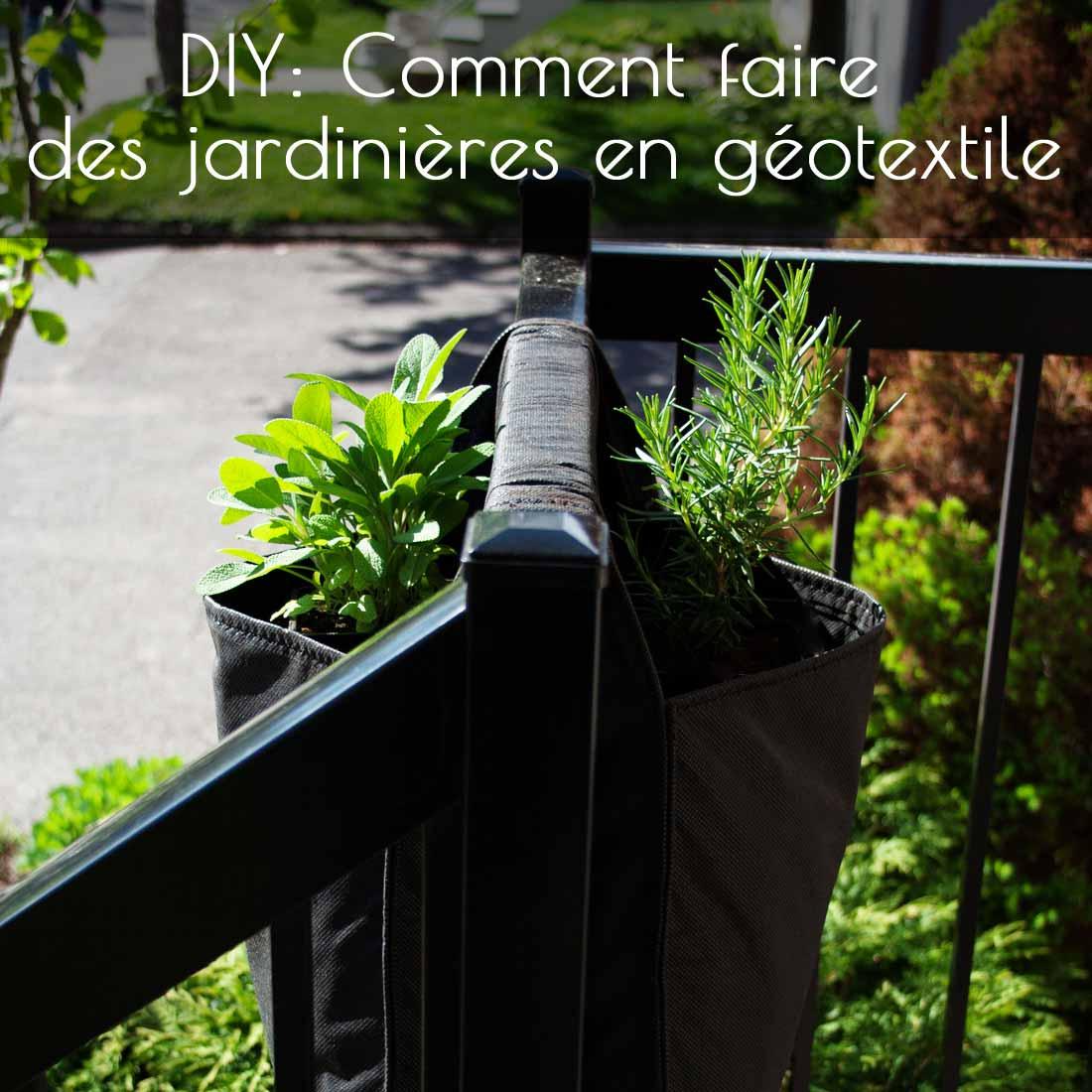 Diy: Comment Faire Des Jardinières En Géotextile - La Ferme ... dedans Geotextile Jardin