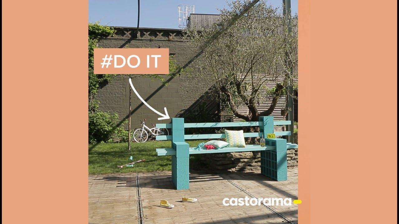 Diy : Fabriquer Un Banc Avec Des Parpaings - Castorama avec Banc De Jardin Castorama