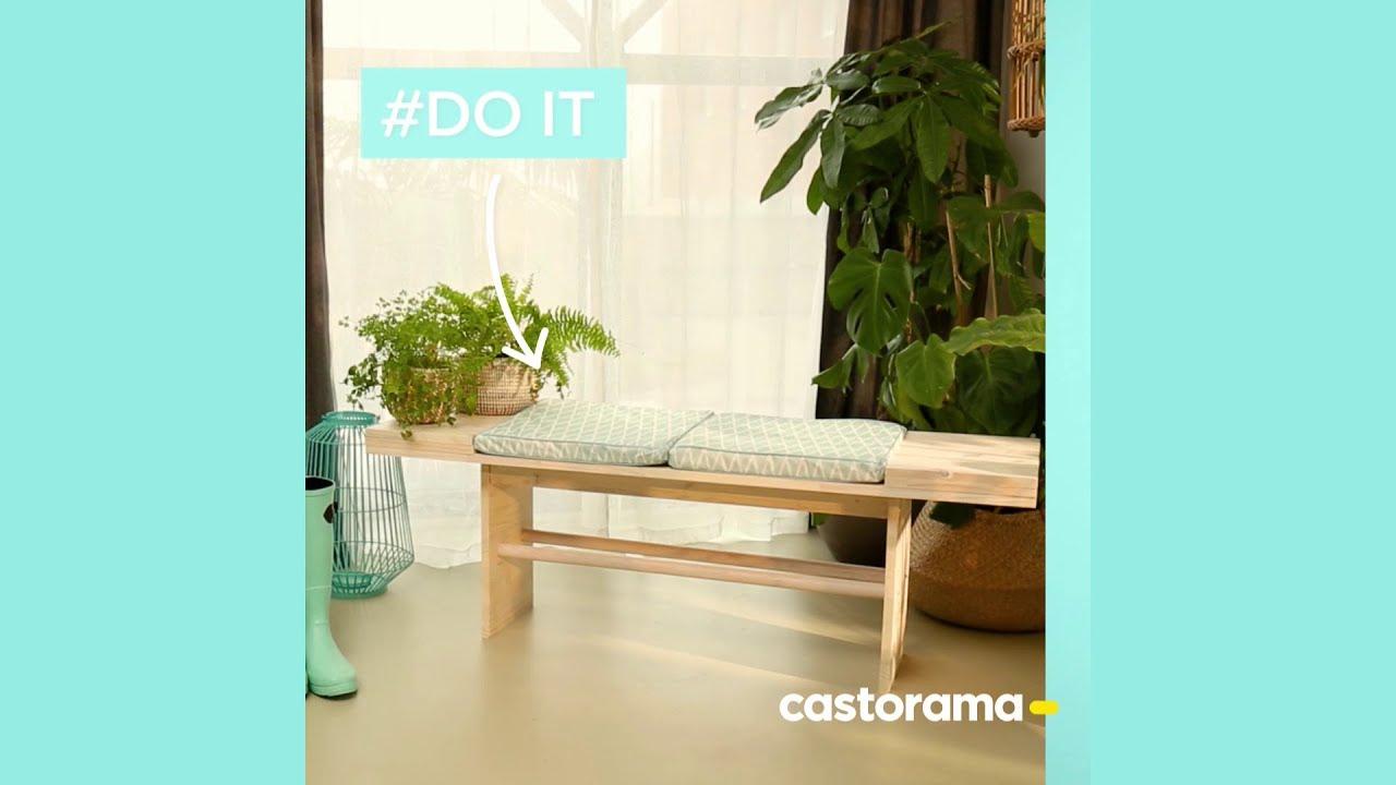 Diy : Fabriquer Un Banc En Bois - Castorama concernant Banc De Jardin Castorama