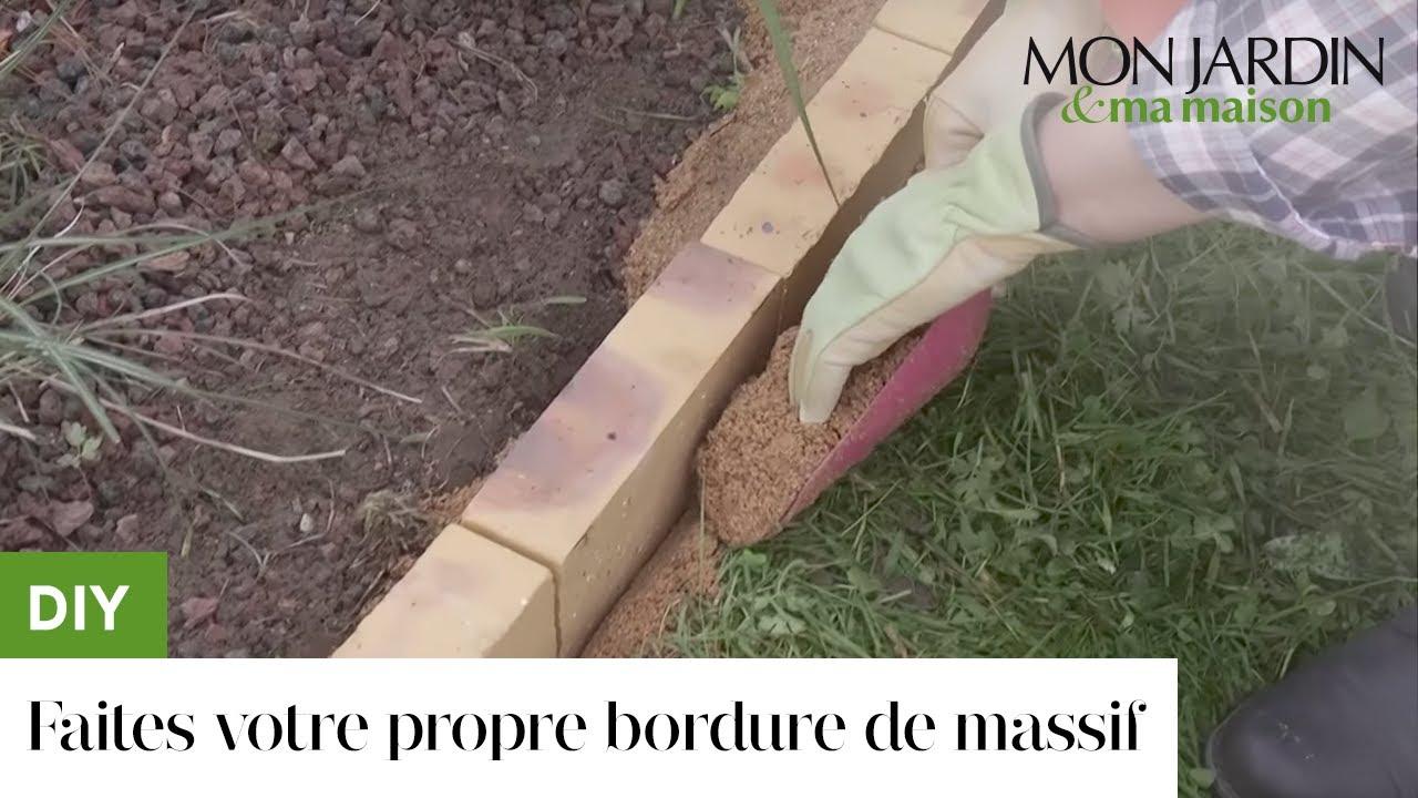 Diy : Faites Votre Propre Bordure De Massif intérieur Bordure Jardin Demi Rondin Bois