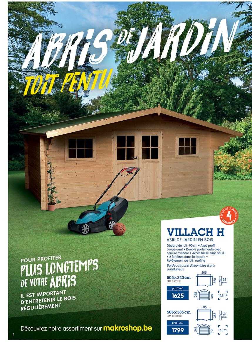 Diy-Garden - Makro-Belgique-Fr-Abris-De-Jardin-2019 - Page 4 ... destiné Abri De Jardin Belgique