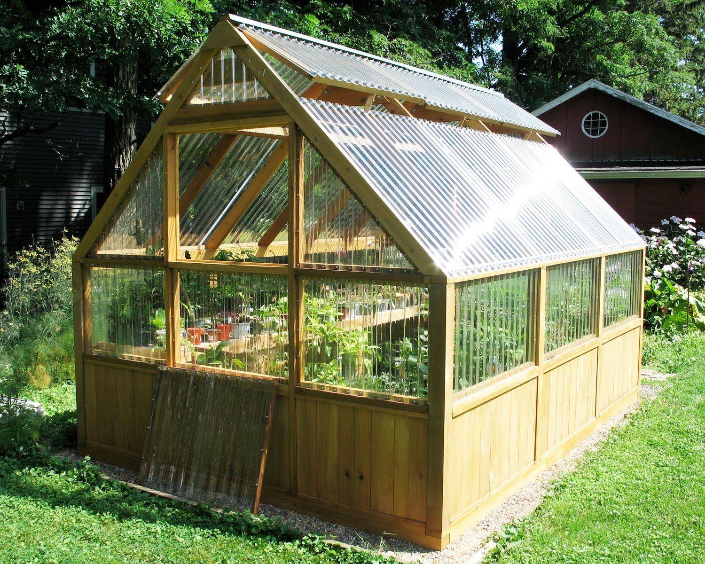 Diy Greenhouse Plans And Greenhouse Kits: Lexan ... destiné Gouttière Pour Abri De Jardin