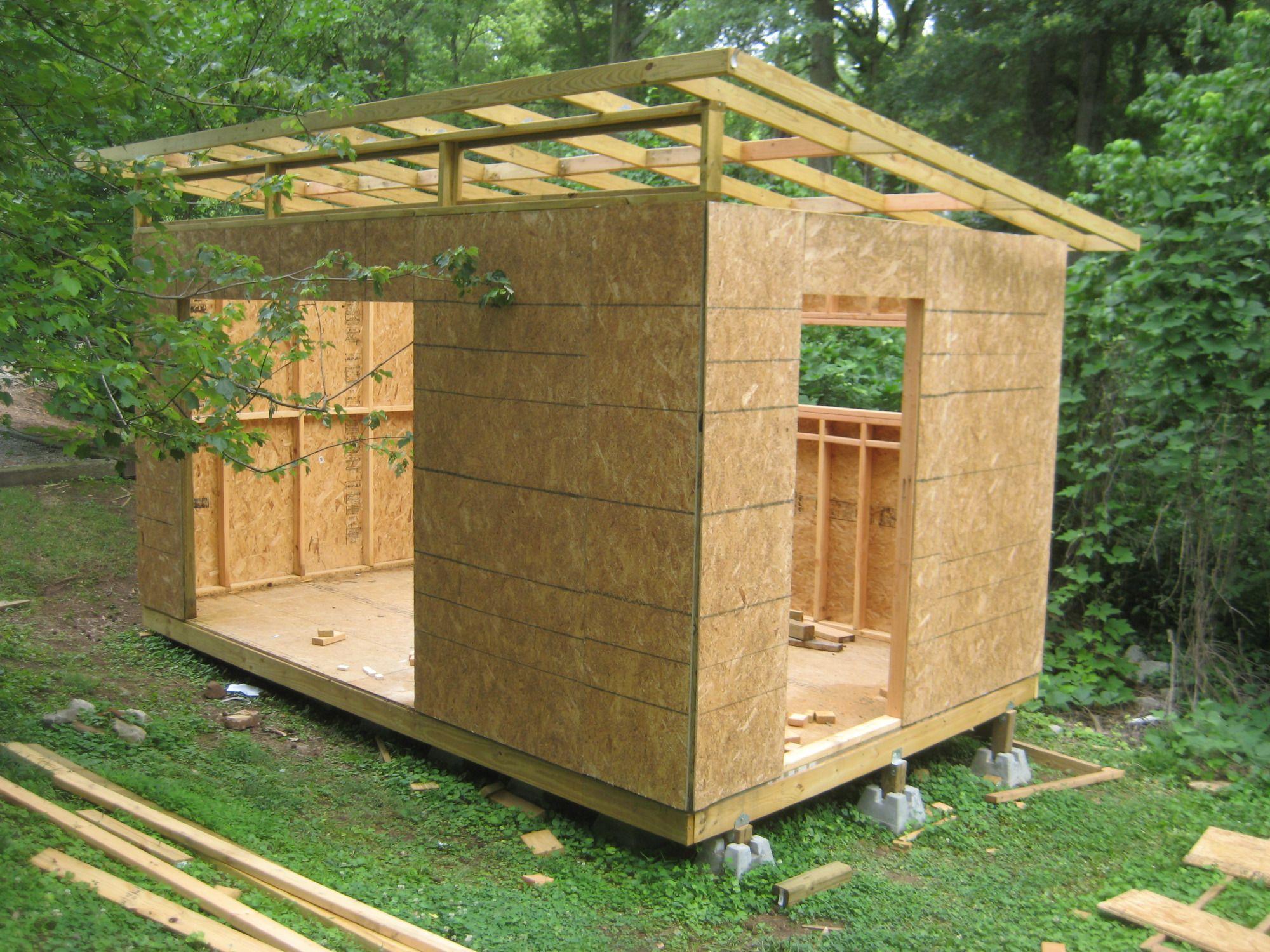 Diy Modern Shed Project | Diyatlantamodern | Plan Abris De ... serapportantà Plan Abri De Jardin Bois