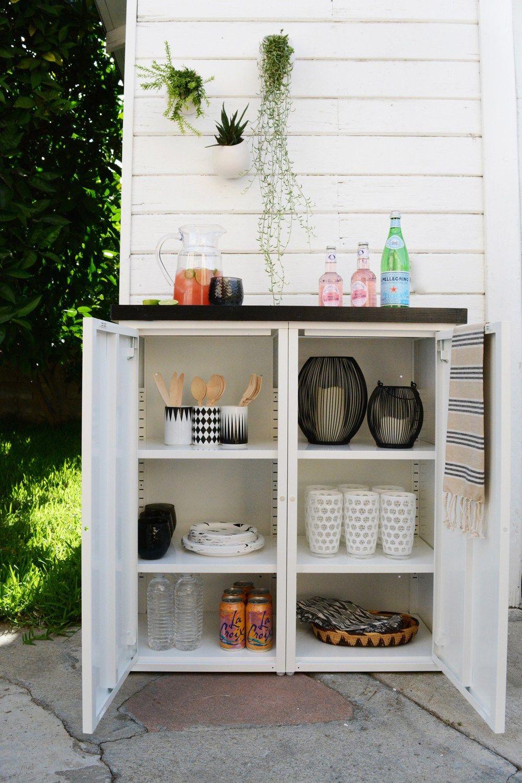 Diy Outdoor Buffet | Patio | Indretning dedans Bar De Jardin Ikea