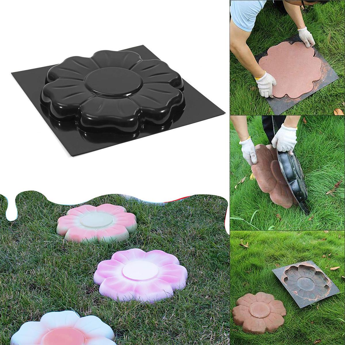 Diy Plastique Moule Pavé Moule De Pavage Béton Ciment Jardin ... pour Dalle Plastique Jardin
