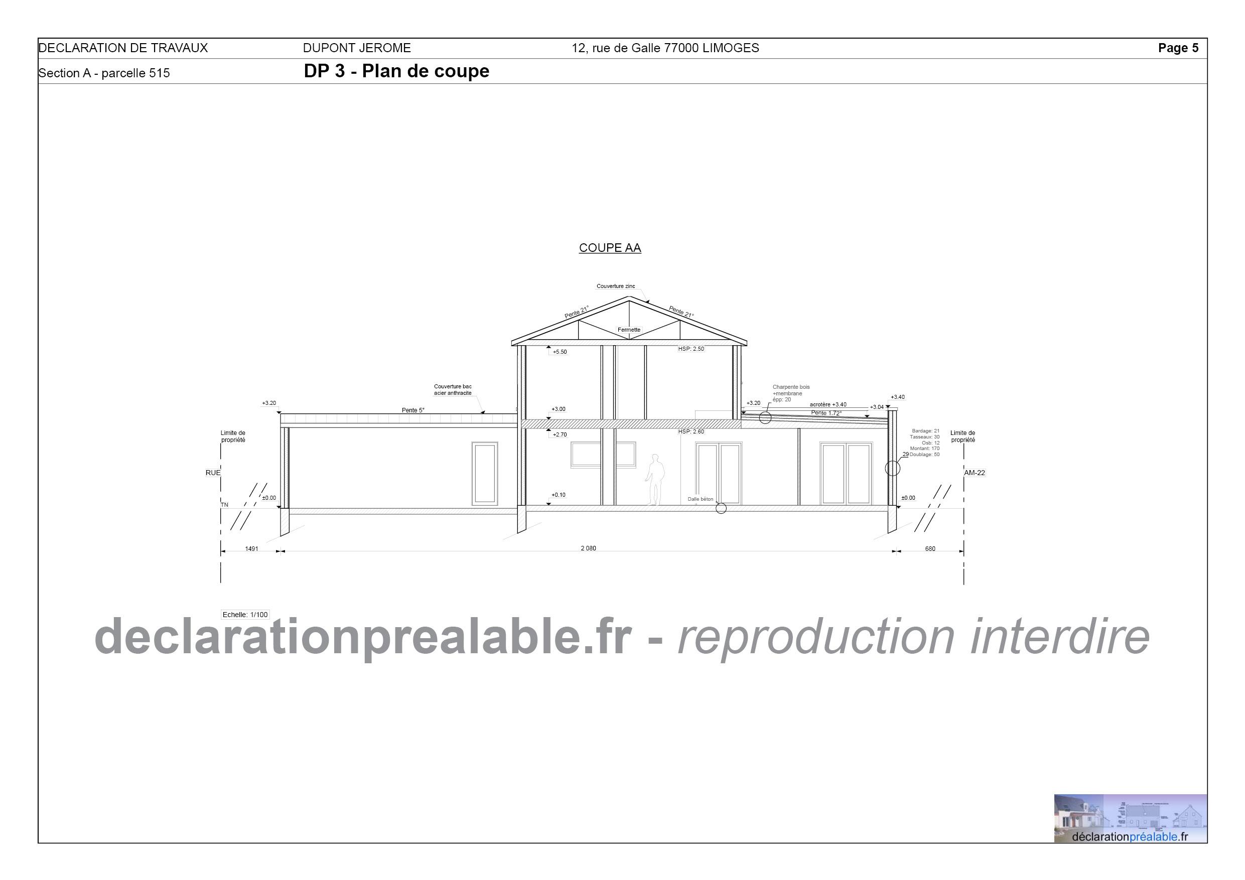 Doc] Declaration De Travaux Abri De Jardin concernant Plan Cabane De Jardin