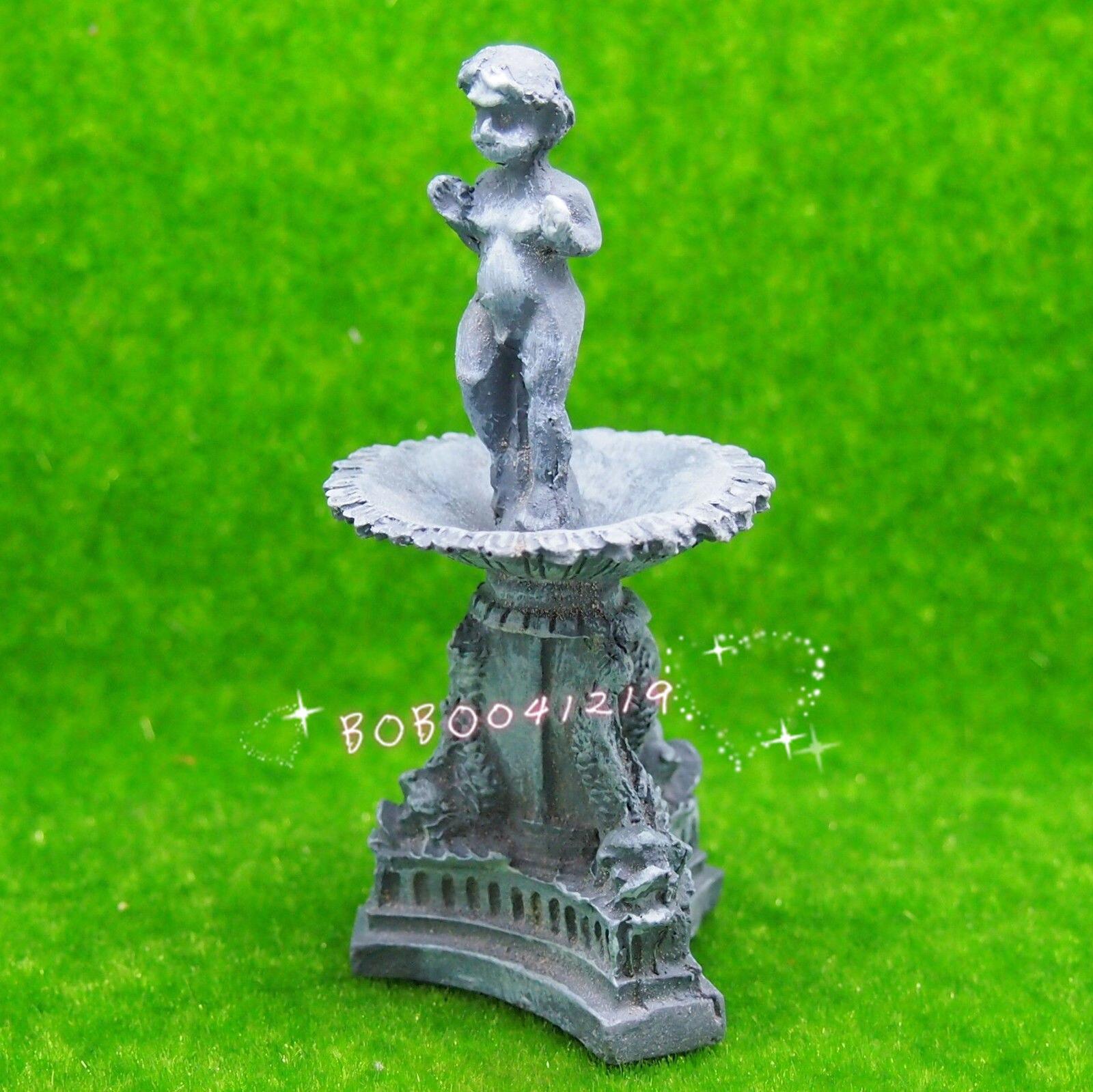 Dollhouse Miniature 1:12 Jouet Jardin Un Vert Résine ... tout Fontaine De Jardin En Resine