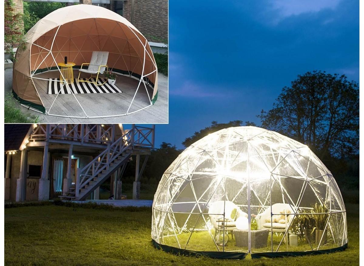 Dôme Abri De Jardin Jard'igloo + Couverture Hiver - Jardideco - pour Bulle De Jardin Prix