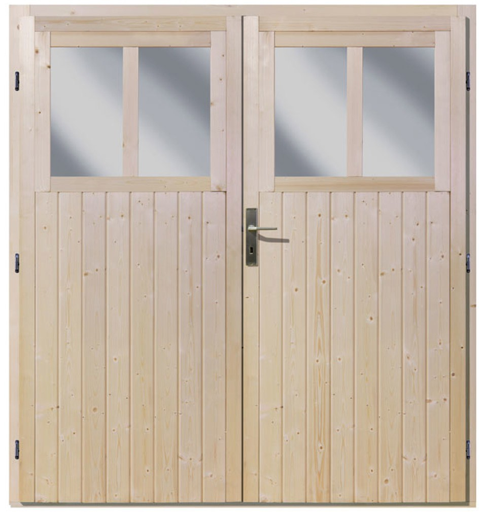 Double Porte Pour Abri De Jardin Wandlitz 19 Mm Fenêtres ... destiné Porte Abris De Jardin En Bois