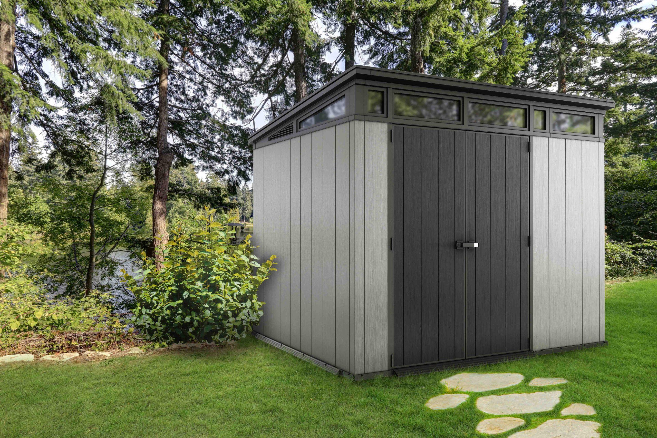 Duramax:la Maison Du Jardin L'abri En Résine Oakland ... encequiconcerne Abri Jardin Monopente