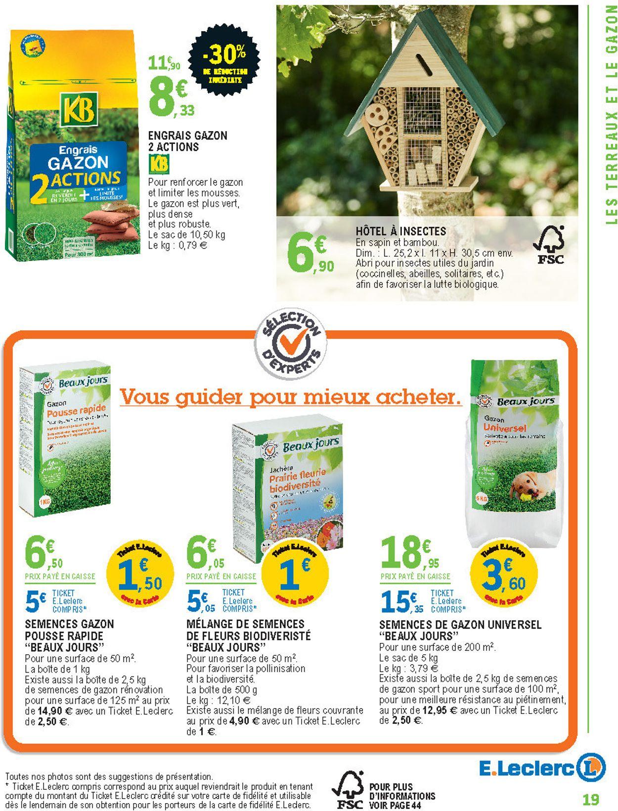 E.leclerc Catalogue Actuel 11.02 - 29.02.2020 [19 ... serapportantà Abris De Jardin Leclerc