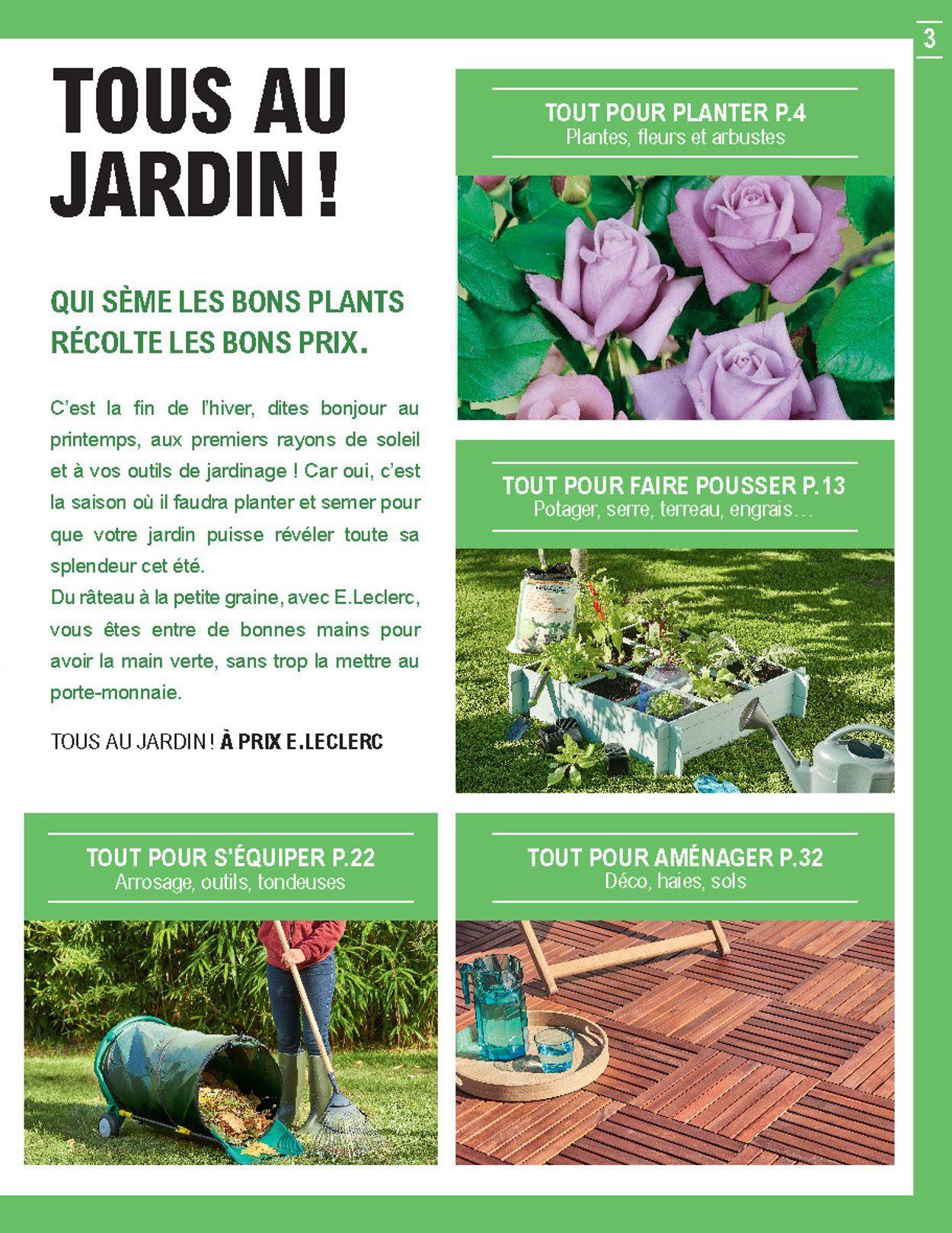 E.leclerc Catalogue Actuel 11.02 - 29.02.2020 [3 ... intérieur Tondeuse Leclerc Jardin