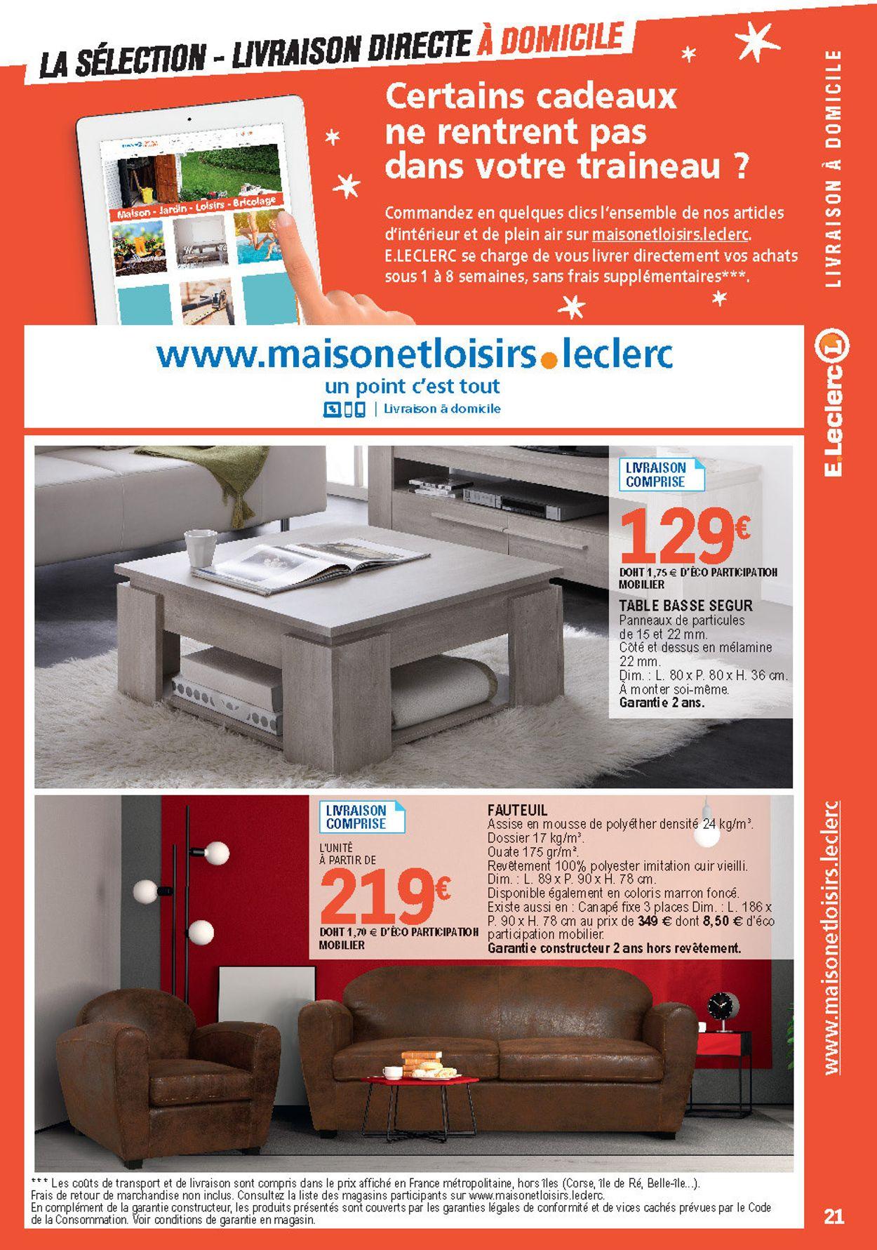 E.leclerc Catalogue De Noël 2019 Catalogue Actuel 03.12 ... encequiconcerne Leclerc Mobilier De Jardin