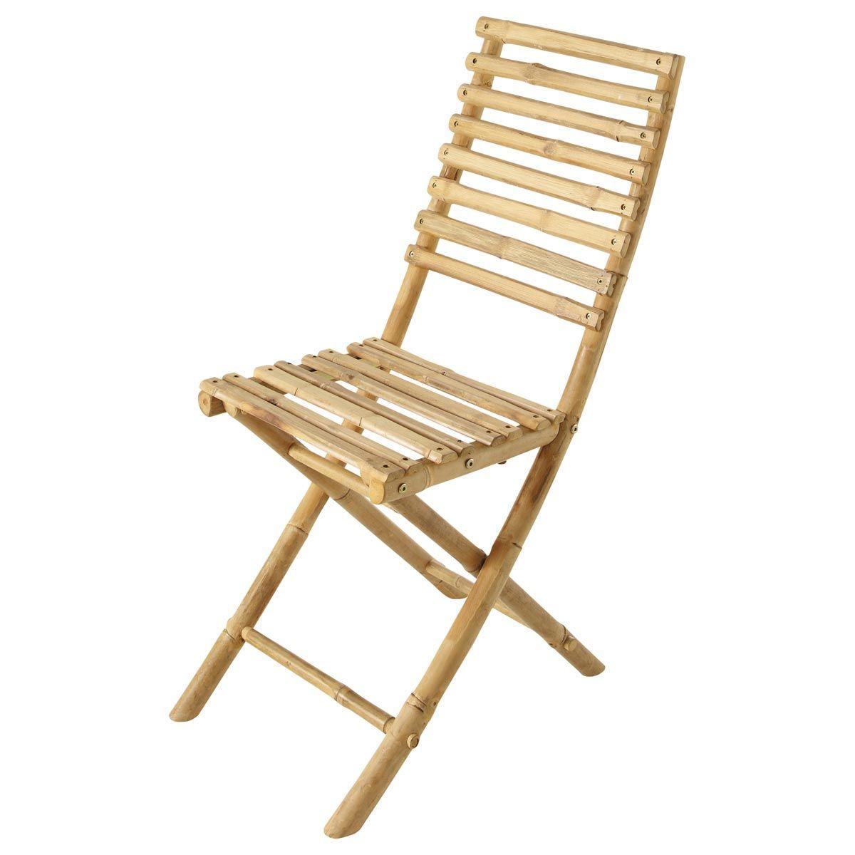 €15 Maisons Du Monde Chaise Pliante De Jardin Bambou ... tout Chaise De Jardin Maison Du Monde