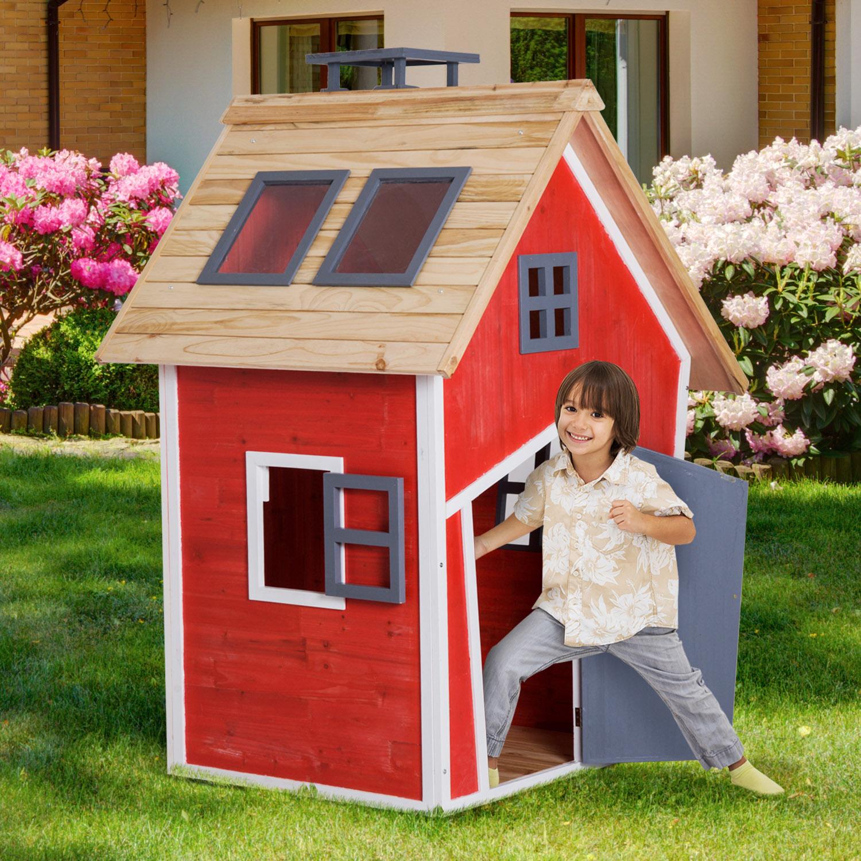 €239,90 Homcom Maison De Jardin Jouet 1,2 X 1,02 1,57 M ... dedans Maison De Jardin Pour Enfants