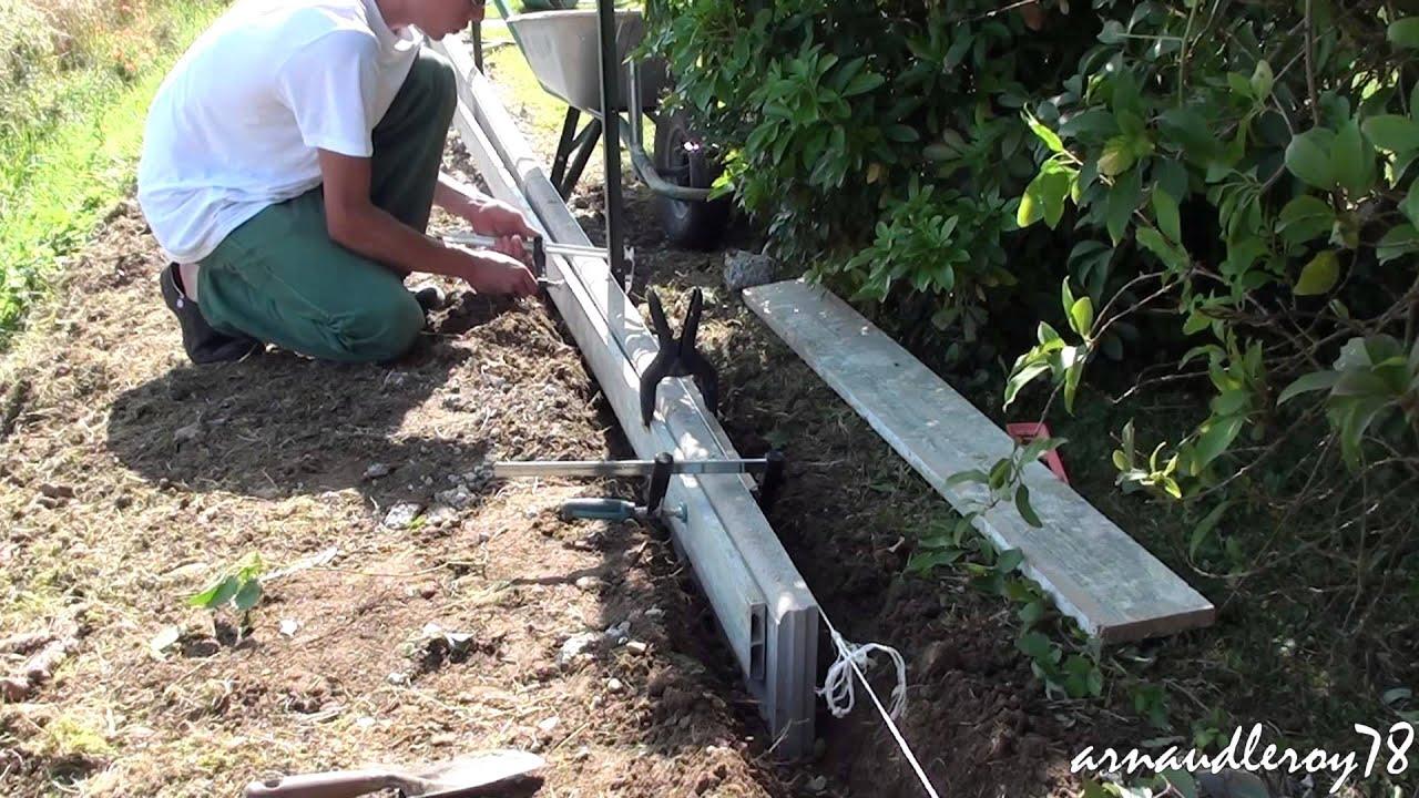 • Création D'une Bordure En Lisses Bétonnées. à Bordure De Jardin Beton 1M