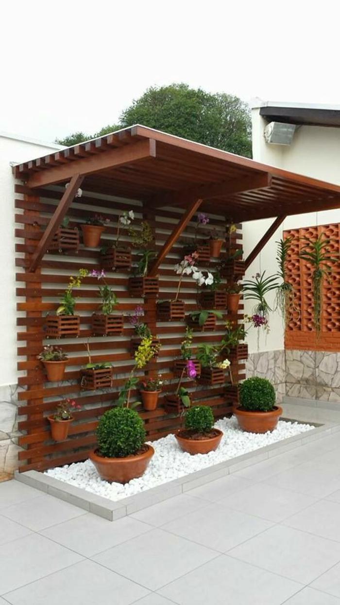 ▷ 1001 + Idées Pour Habiller Un Mur Extérieur + Murs ... destiné Decoration Pour Mur Exterieur De Jardin