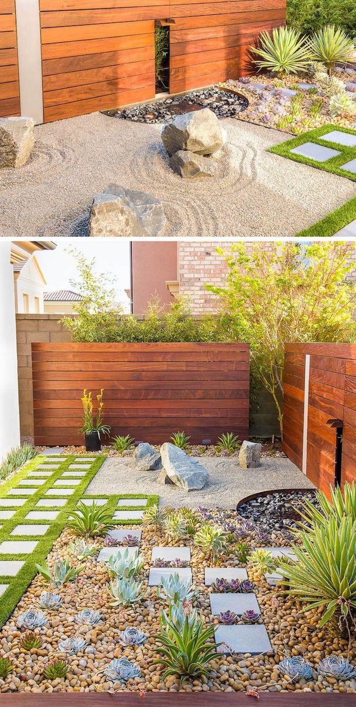 ▷ 1001 + Modèles De Parterre De Fleurs Avec Galets encequiconcerne Idee Deco Jardin Gravier