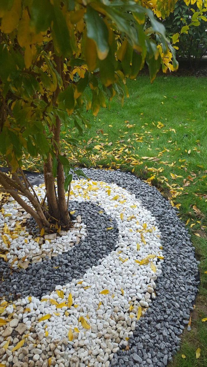 ▷ 1001 + Modèles De Parterre De Fleurs Avec Galets pour Modele De Jardin Avec Galets