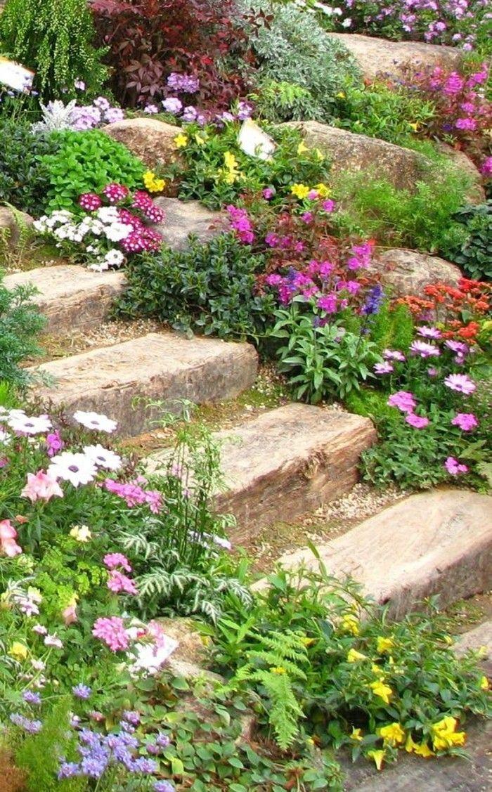▷1001+ Idées Et Conseils Pour Aménager Une Rocaille Fleurie ... tout Modèle De Jardin Fleuri