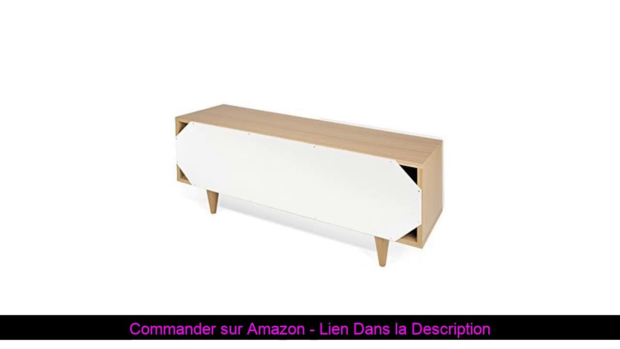 ☀️ Temahome Nyla Tv Table, Chêne, Blanc, 120 X 34 X 50 Cm dedans Serre De Jardin Amazon