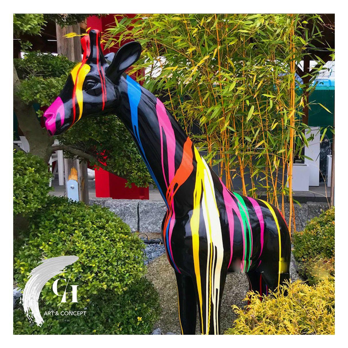 ✖️girafe 1M 🦒✖️ *collection Hard* Shop : Ch-Artconcept ... à Animaux En Résine Pour Jardin