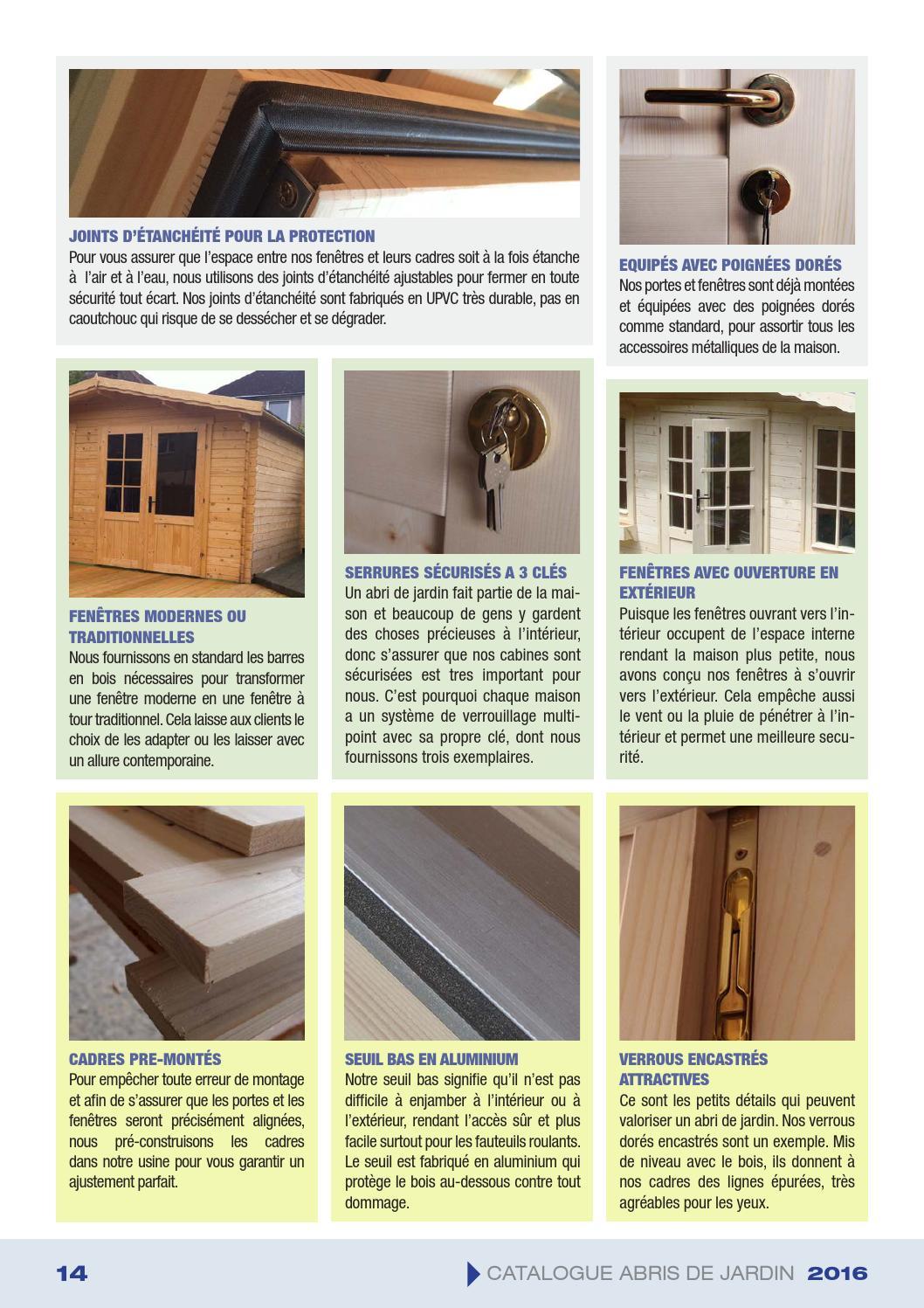Eagle Buildings - Catalogue Abris De Jardin 2016 By Engineer ... destiné Petit Abris De Jardin