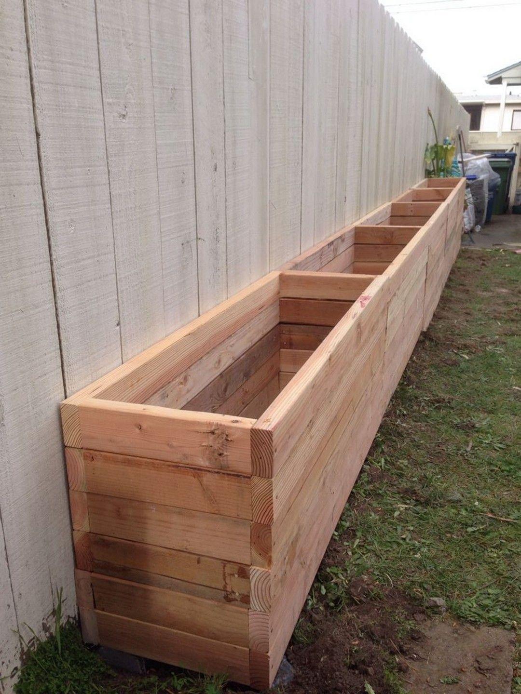 Easy Diy Wooden Raised Planter 260 | Jardinière En Bois ... destiné Bac De Jardin En Bois