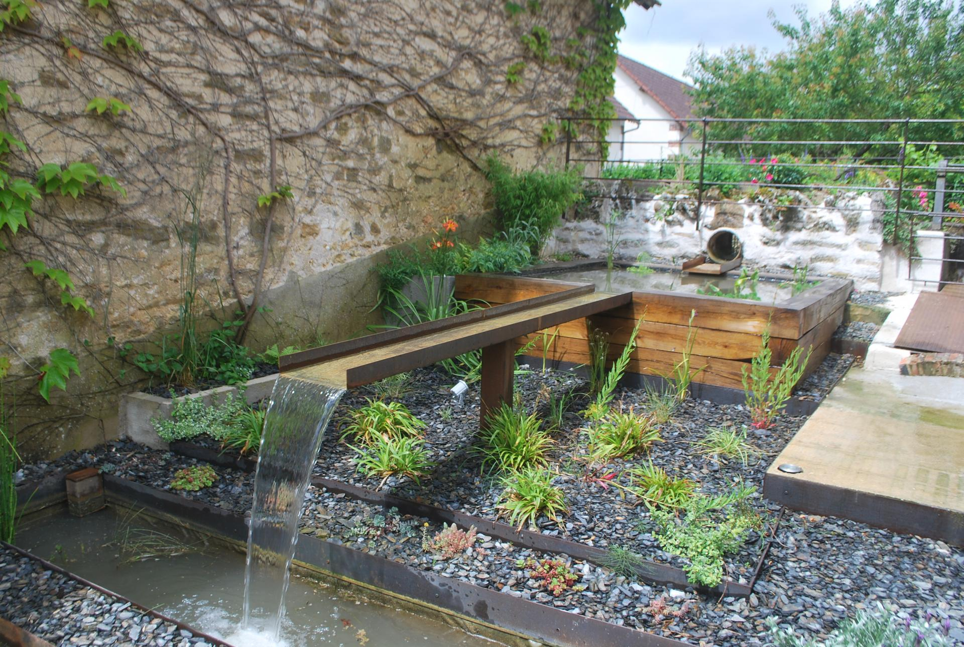 Eau Jardin, Paysagiste À Pourrain Et Auxerre, Création De ... encequiconcerne Amenagement De Bassins De Jardin