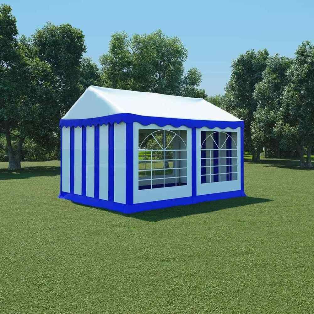 Ebay #sponsored Vidaxl Chapiteau De Jardin Pvc 3X4 M Bleu Et ... à Abri De Jardin Toile