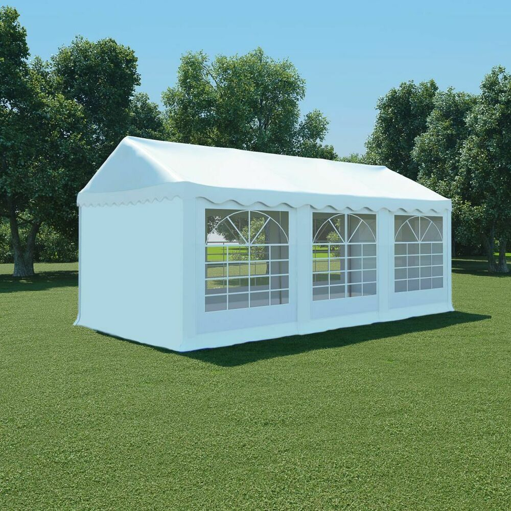 Ebay #sponsored Vidaxl Chapiteau De Jardin Pvc 3X6 M Blanc ... encequiconcerne Tente De Jardin Pas Cher