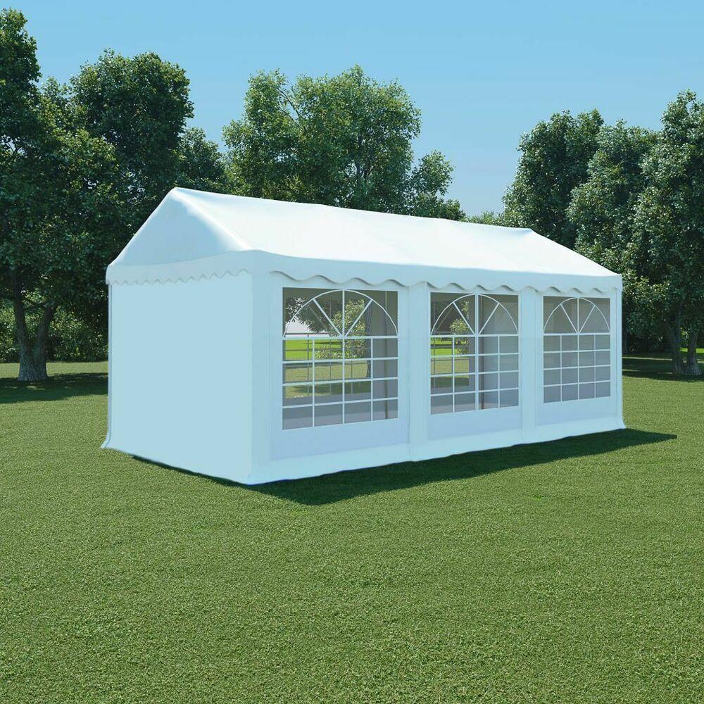 Ebay #sponsored Vidaxl Chapiteau De Jardin Pvc 3X6 M Blanc ... tout Panneau Pvc Jardin