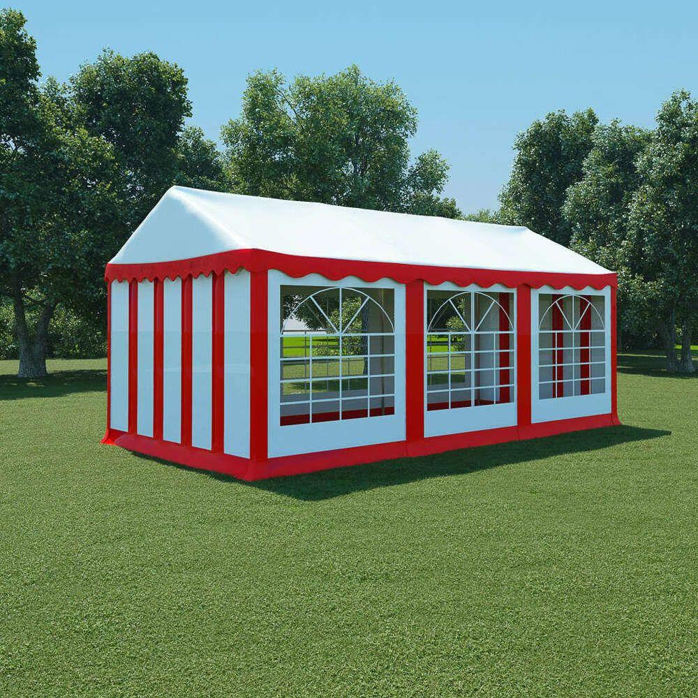Ebay #sponsored Vidaxl Chapiteau De Jardin Pvc 3X6 M Rouge ... destiné Panneau Pvc Jardin