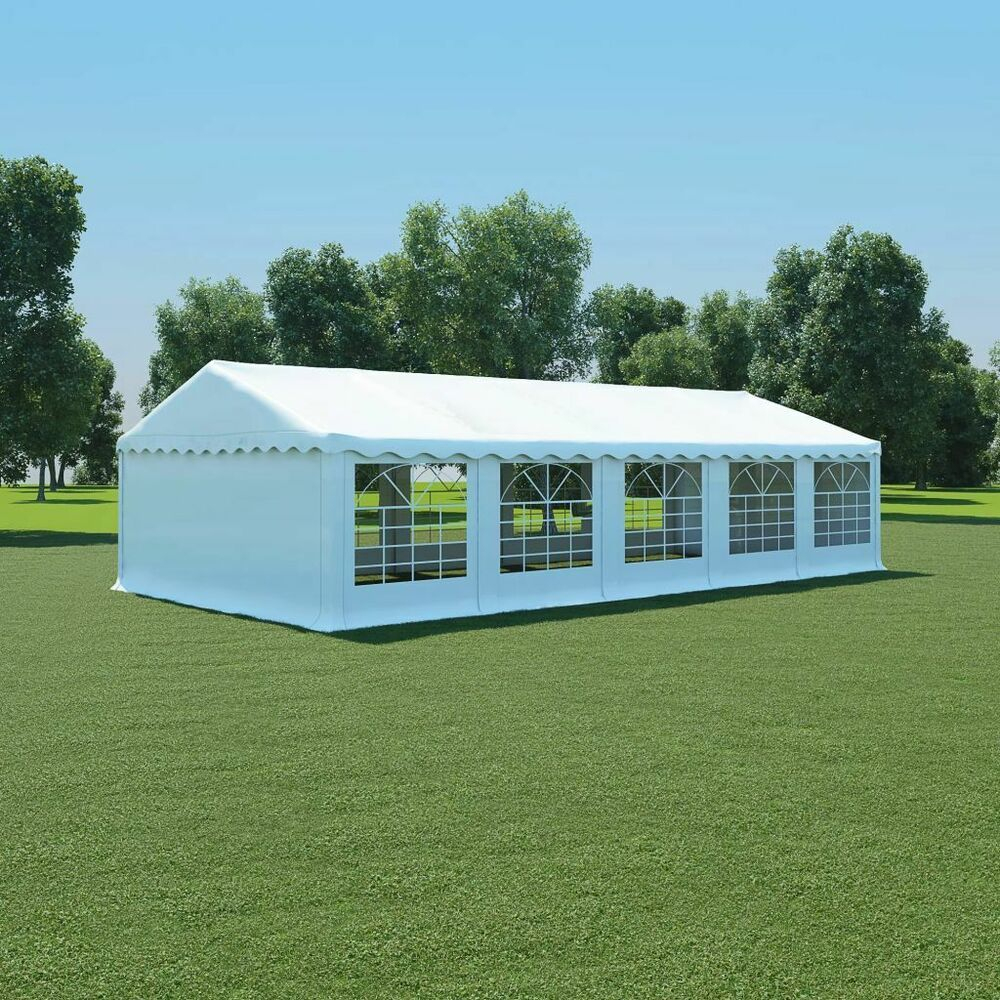 Ebay #sponsored Vidaxl Chapiteau De Jardin Pvc 5X10 M Blanc ... avec Tente De Jardin Pas Cher
