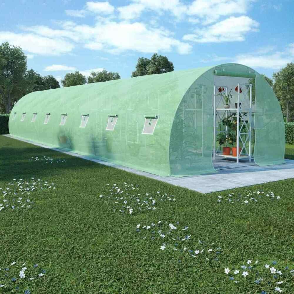 Ebay #sponsored Vidaxl Serre Avec Fondation Acier ... concernant Fondation Abri De Jardin
