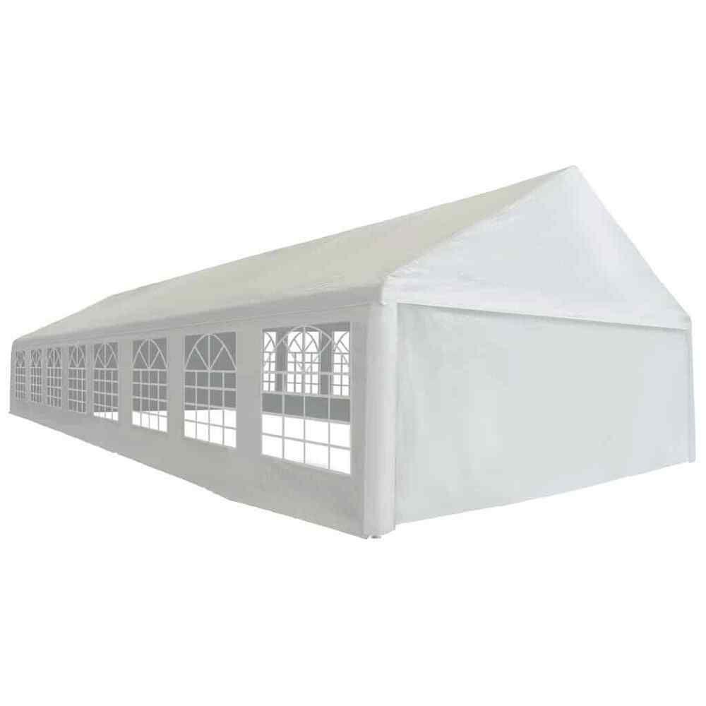 Ebay #sponsored Vidaxl Tente De Réception Pe 6X16 M Blanc ... concernant Tente De Jardin Pliante