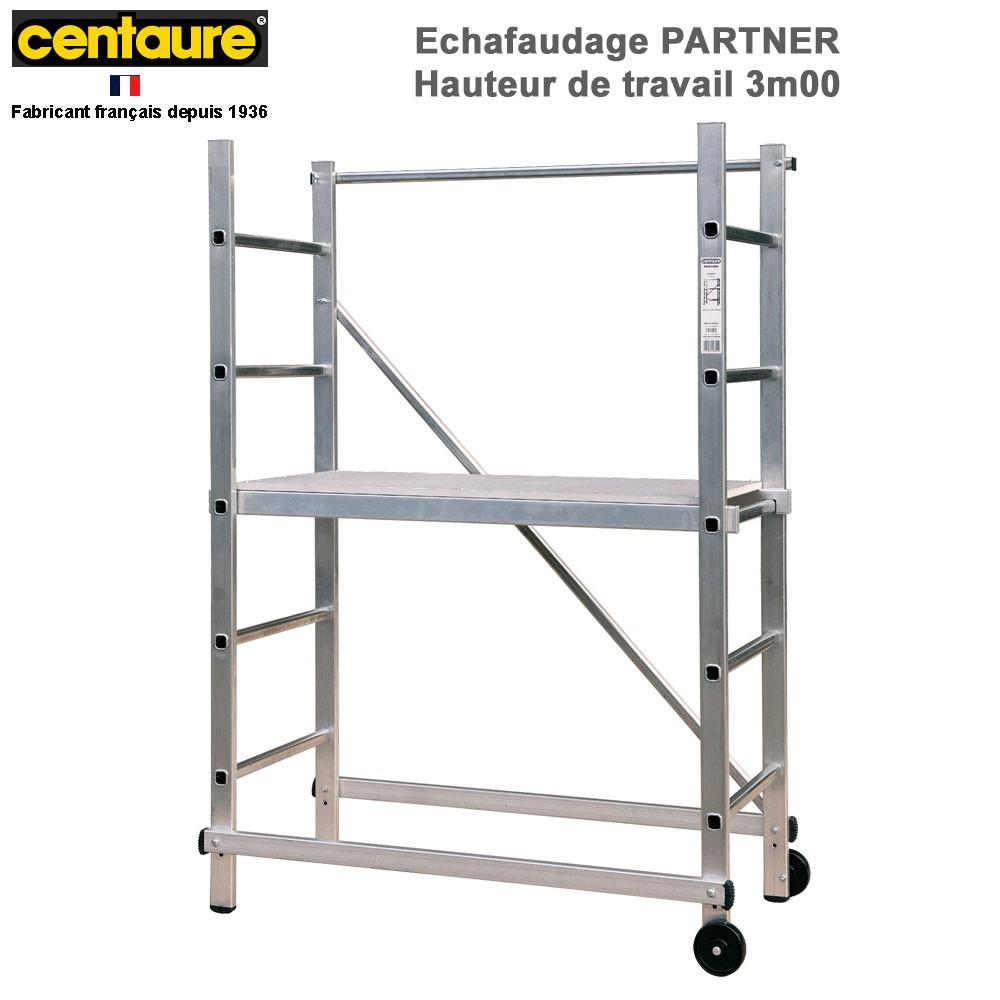 Echafaudage Domestique Aluminium Partner pour Echafaudage De Jardin