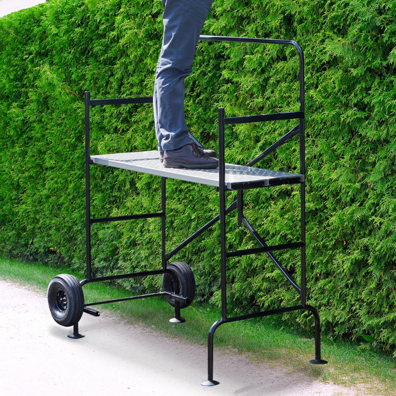 Echafaudage Mobile Sur Roues L.140 Xl.78Xh.135 Cm Avec 2 Plateforme... tout Echafaudage De Jardin