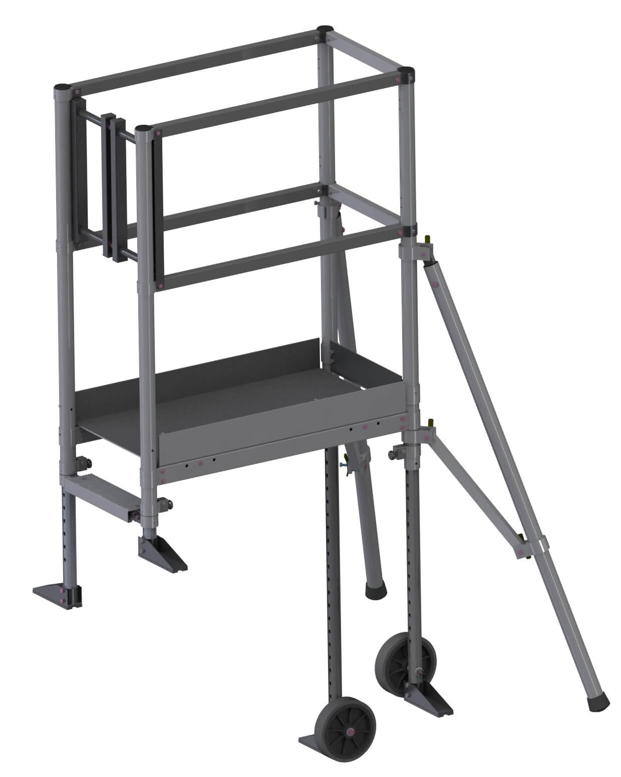Echafaudage Pour Escalier: 4M Haut. Travail Max avec Echafaudage De Jardin