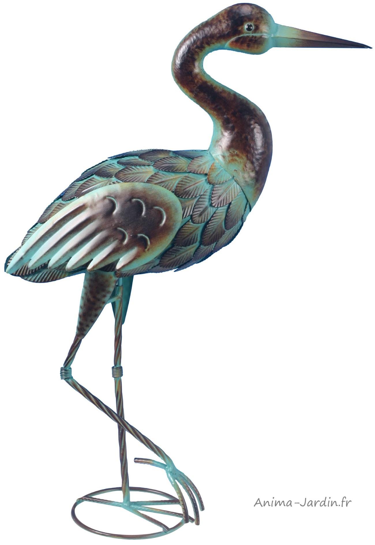 Echassier En Métal, 63 Cm, Déco De Jardin, Riviera, Achat, Oiseau, Animal dedans Animaux Fer Forgé Jardin