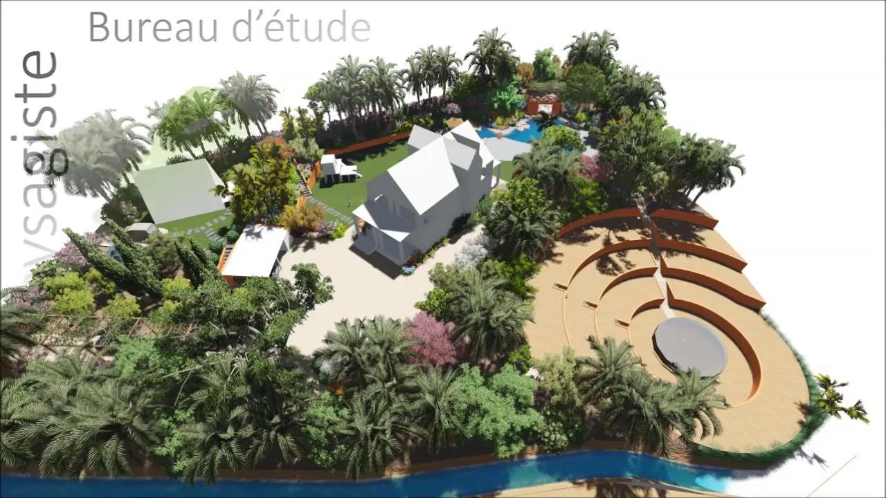 Eco-Paysagiste En Ligne, Bureau D'étude : Plan D'aménagement ... intérieur Refaire Son Jardin Paysagiste