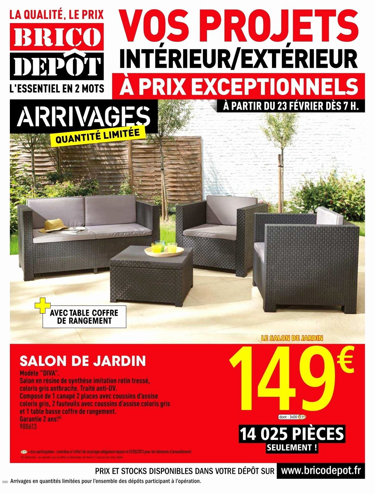 Elegant Barriere De Securite Brico Depot | Salon De Jardin ... dedans Mobilier Jardin Brico Depot