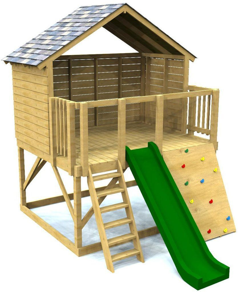 Elevated Open Clubhouse Plan For Kids #woodworkingforkids ... pour Maison Jardin Jouet