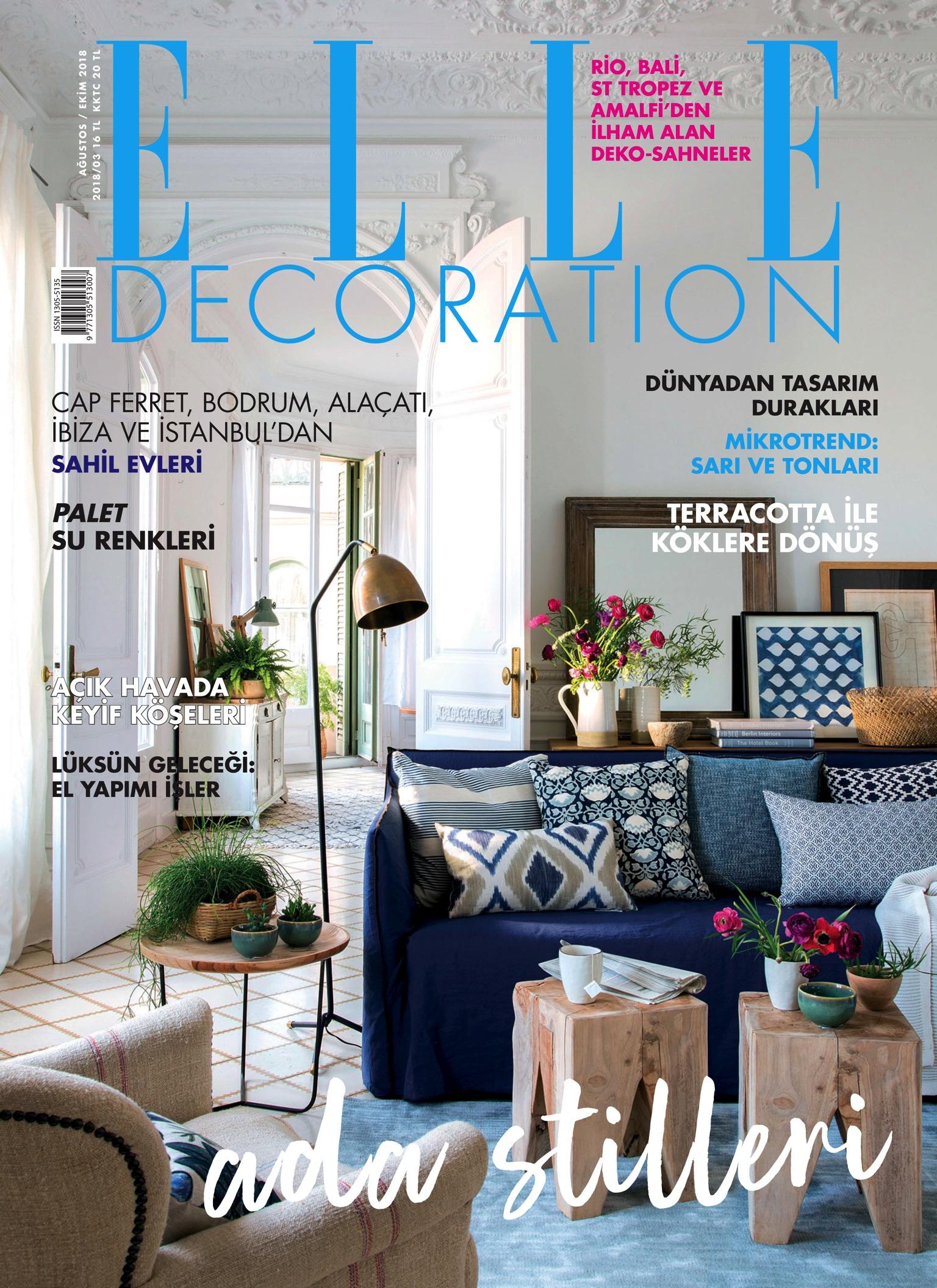 Elle Decoration Ağustos - Ekim 2018 Edergi intérieur Super U Salon De Jardin