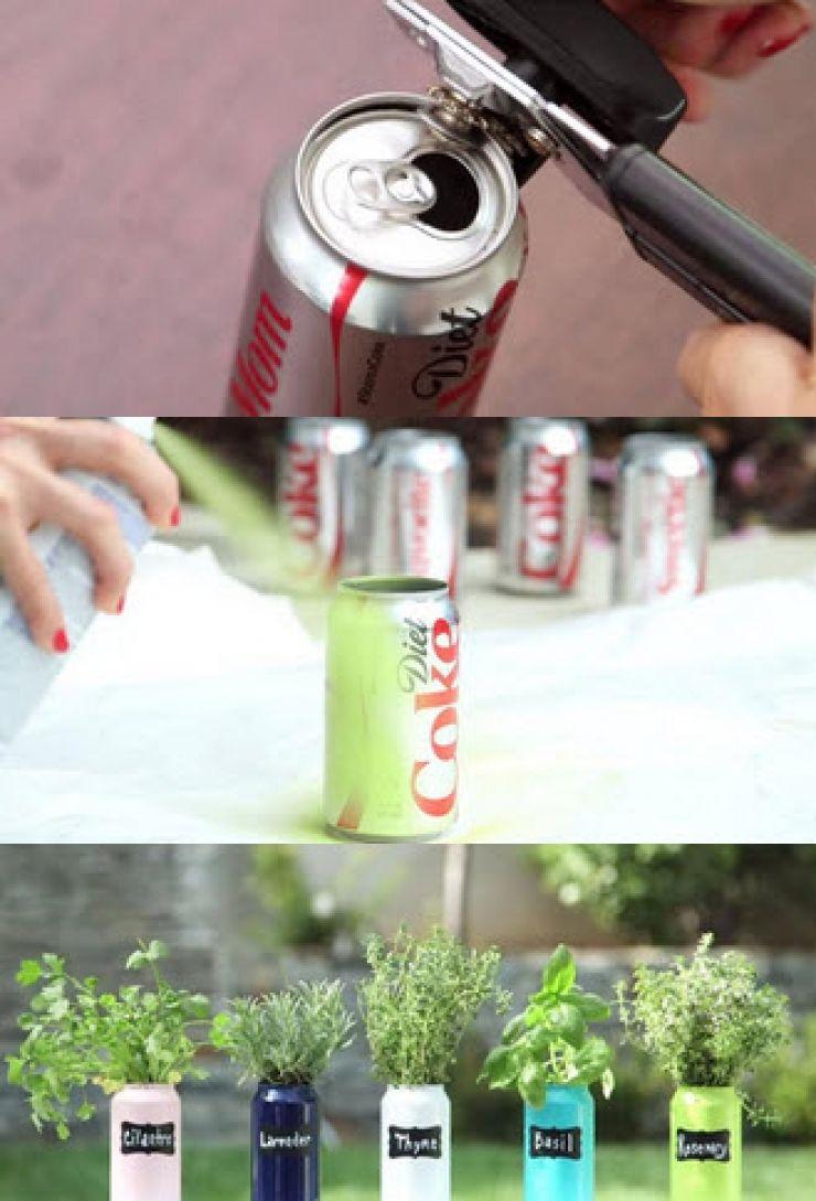 Elle Utilise Des Fourchettes En Plastique Qu'elle Plante ... à Idée De Génie Jardin