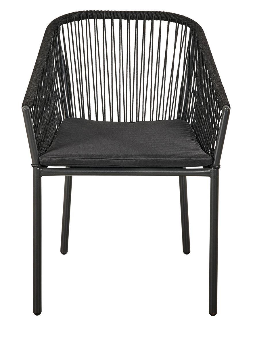 Emily Chaise De Jardin Noir H 80 X Larg. 66 X P 63 Cm tout Chaise De Jardin Casa