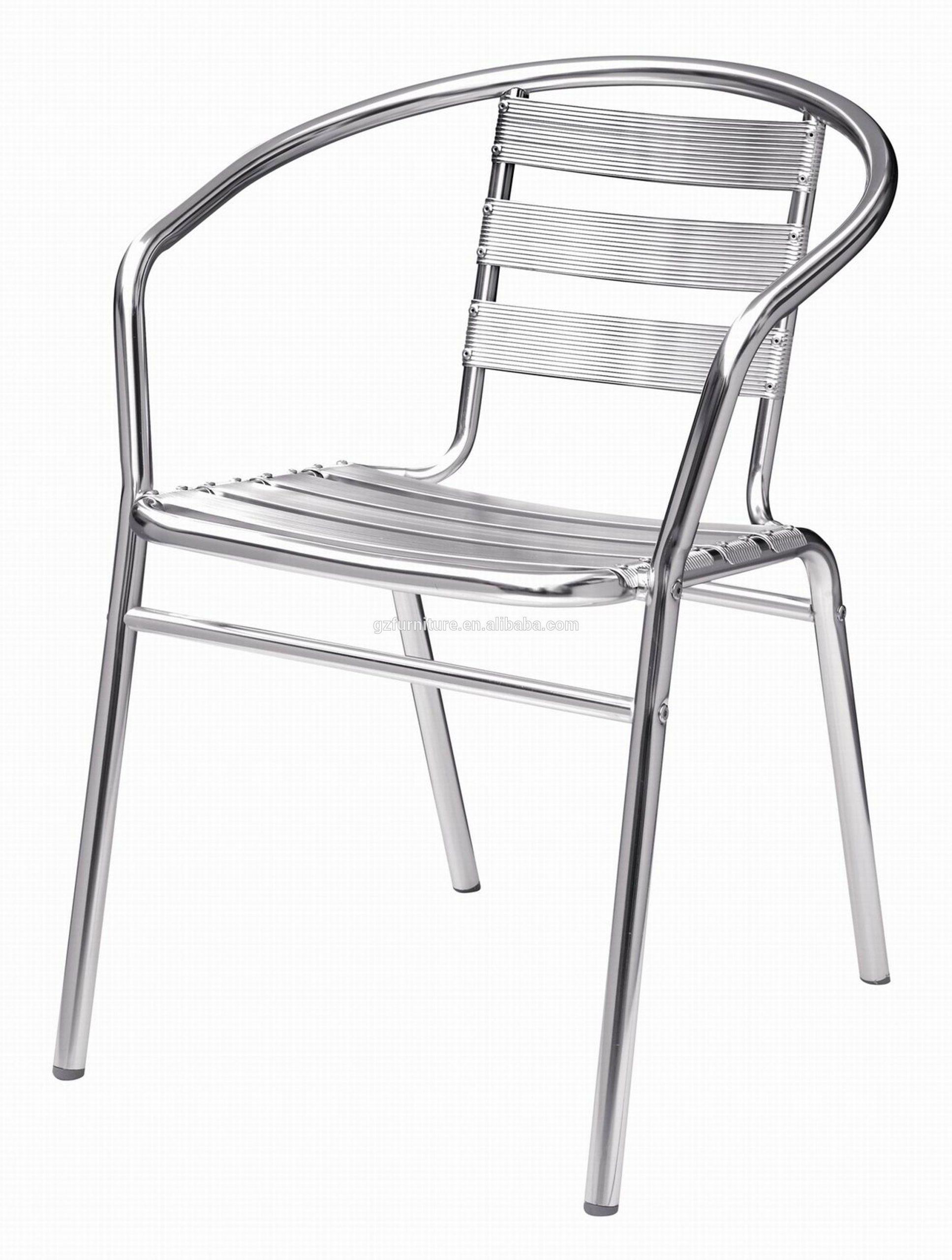 En Aluminium Chromé Bistro Patio Jardin Bar Terrasse Barbecue En Métal  Chaise Forte - Buy Chaise En Aluminium,chaise De Bistrot,chaise Forte En  Métal ... serapportantà Chaise Bistrot Aluminium Jardin